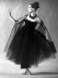 Presentation on February 27, 1963 of Fashion by Jacques Heim, Paris : Black Tulle Evening Dress Photo