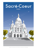 Sacre Coure - Dave Thompson Contemporary Travel Print Prints by Dave Thompson