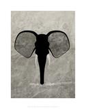 Elephant - Jethro Wilson Contemporary Wildlife Print Prints by Jethro Wilson