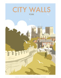 York City Walls - Dave Thompson Contemporary Travel Print Posters by Dave Thompson