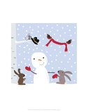 Snowman and Friends - Wink Designs Contemporary Print Prints by Michelle Lancaster