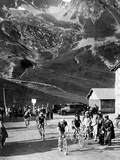 Tour De France 1929, 15th Leg Grenoble/Evian (Alps) on July 20: Antonin Magne Ahead Photographie