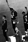 Winners of the Men's 200 Metres on the Podium, 1968 Olympic Games, Mexico City Foto