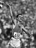L'Athlete Italien Alberto Cova Vainqueur Du 10 000 M Aux Jeux Olympiques D'Ete De 1984 Photo
