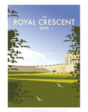 The Royal Crescent - Dave Thompson Contemporary Travel Print Prints by Dave Thompson