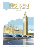 Big Ben - Dave Thompson Contemporary Travel Print Prints by Dave Thompson