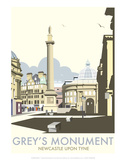 Greys Monument, Newcastle - Dave Thompson Contemporary Travel Print Posters by Dave Thompson