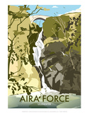 Aira Force, Lake District - Dave Thompson Contemporary Travel Print Posters by Dave Thompson