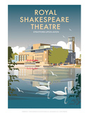 Royal Shakespeare Theatre - Dave Thompson Contemporary Travel Print Prints by Dave Thompson