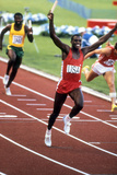 Olympic Games in Los Angeles, 1984 : 4X100M : American Team Is Winner : Carl Lewis Photo