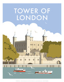Tower of London - Dave Thompson Contemporary Travel Print Prints by Dave Thompson