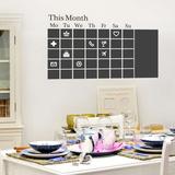 Chalkboard Calendar Kalkomania ścienna