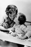 French Actress Micheline Presle with Daughter Tonie Marshall (7) August 9, 1958 Photo