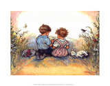 Reading - Alfie Illustrated Print Art by Shirley Hughes