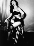 Bettie Page, American Model and Pin Up, C. 1955 Photo