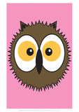Owl - Animaru Cartoon Animal Print Giclee Print by  Animaru