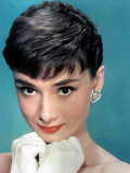 Portrait of the American Actress Audrey Hepburn, Photo for Promotion of Film Sabrina, 1954 Foto