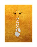 Giraffe - Jethro Wilson Contemporary Wildlife Print Prints by Jethro Wilson