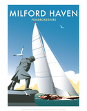 Milford Haven - Dave Thompson Contemporary Travel Print Posters by Dave Thompson