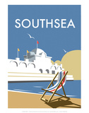 Southsea - Dave Thompson Contemporary Travel Print Art by Dave Thompson