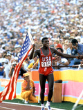Olympic Games in Los Angeles, 1984 : 100M : Carl Lewis Winner Photo