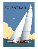 Solent Sailing - Dave Thompson Contemporary Travel Print Prints by Dave Thompson