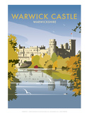 Warwick Castle - Dave Thompson Contemporary Travel Print Posters by Dave Thompson