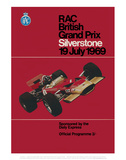 RAC British Grand Prix - Silverstone Vintage Print Posters par Silverstone