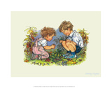 Garden - Alfie Illustrated Print Poster by Shirley Hughes