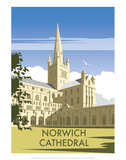 Norwich Cathedral - Dave Thompson Contemporary Travel Print Posters by Dave Thompson