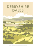 Derbyshire Dales - Dave Thompson Contemporary Travel Print Prints by Dave Thompson