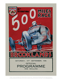 500 Miles Race Brooklands - Silverstone Vintage Print Prints by Silverstone