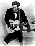 Charles Edward Anderson Berry Aka Chuck Berry (B.1926) Rock and Roll Guitarist Here C. 1955 Photo