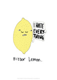 Bitter Lemon - Tom Cronin Doodles Cartoon Print Giclee Print by Tom Cronin