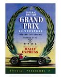 Grand Prix - Silverstone Vintage Print Art by Silverstone