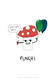 Funghi - Tom Cronin Doodles Cartoon Print Wydruk giclee autor Tom Cronin