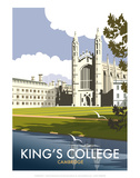 Kings College, Cambridge - Dave Thompson Contemporary Travel Print Posters by Dave Thompson