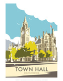 Manchester Town Hall - Dave Thompson Contemporary Travel Print Posters by Dave Thompson