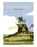 The Copper Horse - Windsor Castle - Dave Thompson Contemporary Travel Print Posters by Dave Thompson