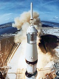 Lift Off of Apollo 11 Mission, with Neil Armstrong, Michael Collins, Edwin Buzz Aldrin, July 1969 - Photo