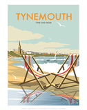 Tynemouth - Dave Thompson Contemporary Travel Print Prints by Dave Thompson