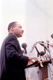 Martin Luther King, American Priest Activist for Civil Right Movement Black Americans Here C. 1965 Photo