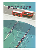 Boat Race - Dave Thompson Contemporary Travel Print Prints by Dave Thompson