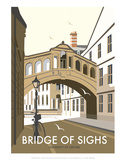 Bridge of Sighs, Oxford - Dave Thompson Contemporary Travel Print Posters by Dave Thompson