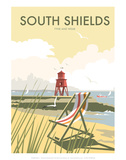 South Shields - Dave Thompson Contemporary Travel Print Prints by Dave Thompson