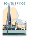 Tower Bridge - Dave Thompson Contemporary Travel Print Prints by Dave Thompson
