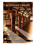 Bodelein Library Interior - Dave Thompson Contemporary Travel Print Prints by Dave Thompson