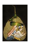 Inde Peinture Sur Feuille D'Arbre Sechee Posters