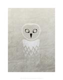 Owl - Jethro Wilson Contemporary Wildlife Print Posters van Jethro Wilson