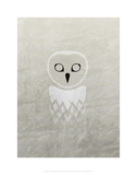 Owl - Jethro Wilson Contemporary Wildlife Print Prints by Jethro Wilson